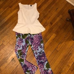 Moschino Floral fitted ankle pants